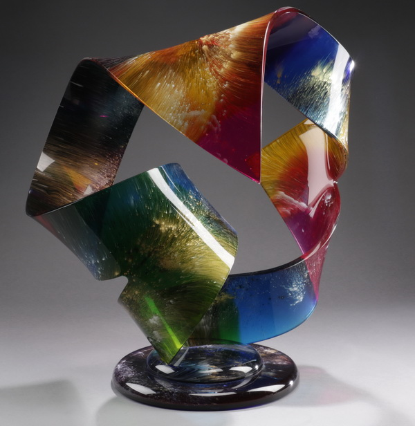 Shlomi Haziza acrylic sculpture, 'Whisper,' signed