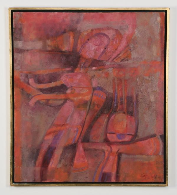 Arnaldo Coen (Mexican), signed abstract O/c, 35