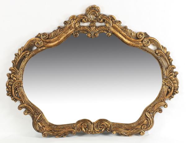 Contemporary gilt Rococo style mirror, 54