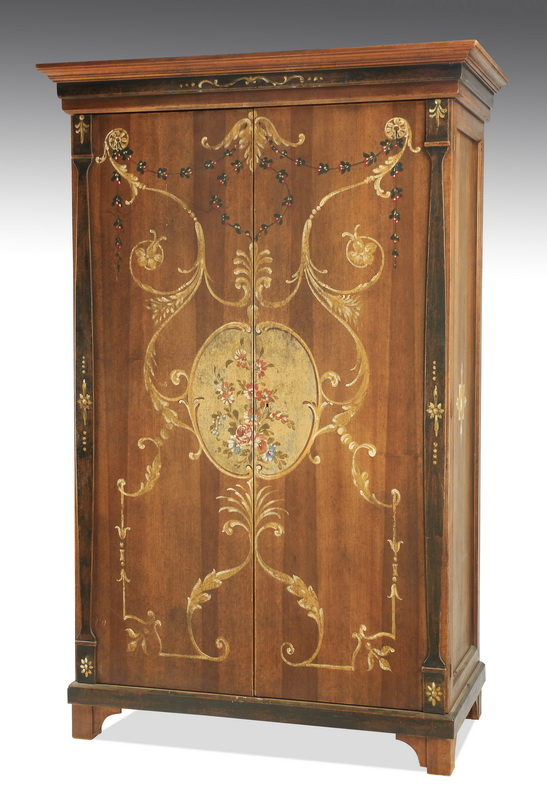 French style paint-decorated cabinet, 81