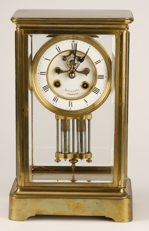 Early 20th c. French crystal regulator clock