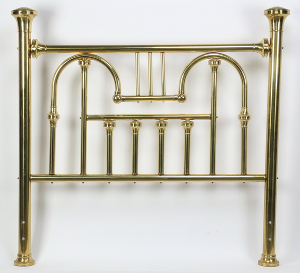 Contemporary brass bed, 63