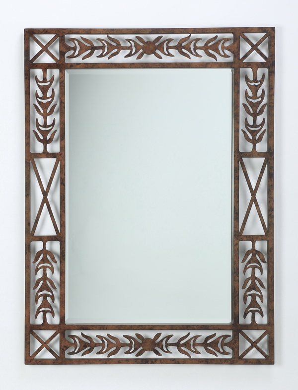 Contemporary open-worked metal mirror, 46