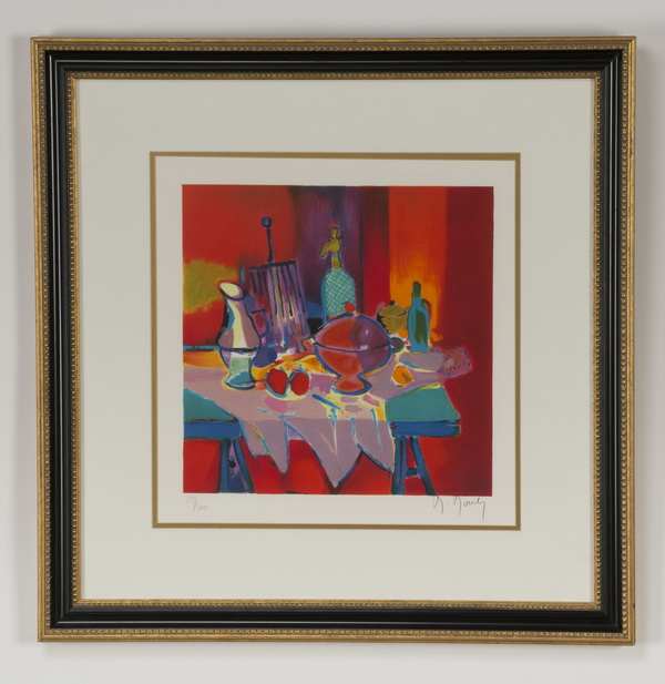 Marcel Mouley lithograph, 'Nature Morte,' signed