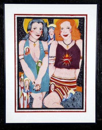 20th c. W/c, 'Midnight Madonnas', artist signed