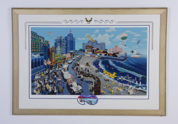 Melanie Taylor Kent signed, numbered, 'Atlantic City'