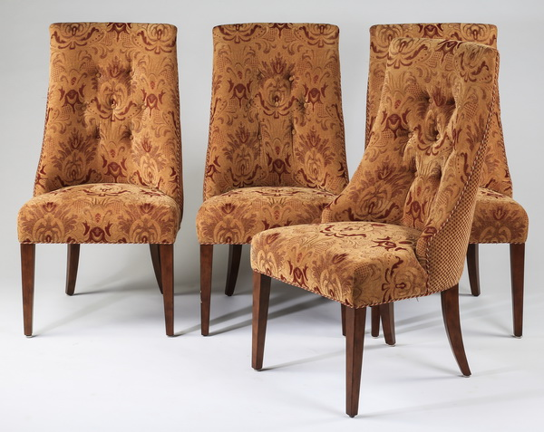 (4) Upholstered slipper chairs