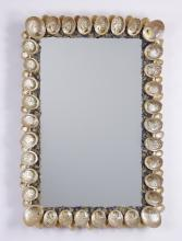 Abalone shell decorated mirror, 49
