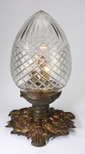 Cut glass table lamp, early 20th c., 19