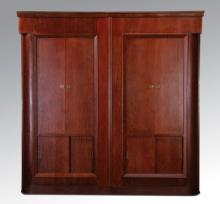 Italian Art Deco walnut cabinet, 92
