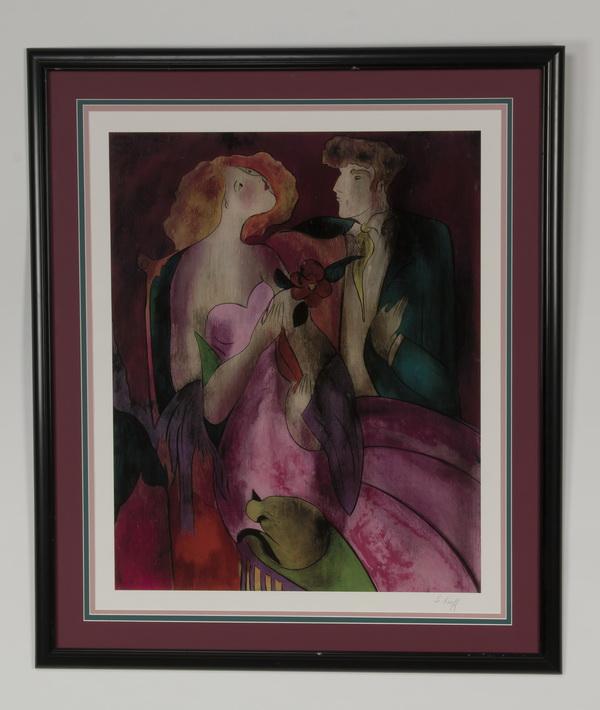 Linda Le Kinff signed serigraph, 'Robe du Soir'