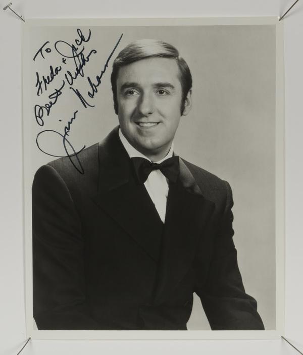 Jim Nabors autographed photograph w/letter