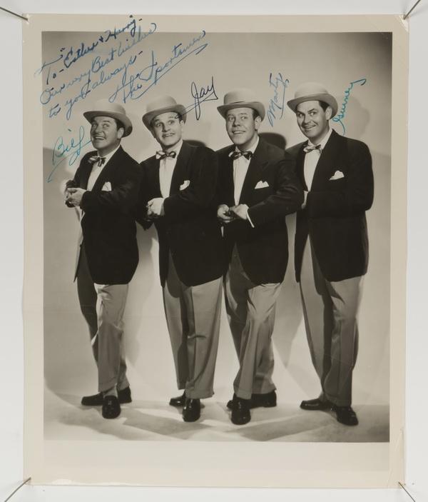 'Sportsmen Quartet' autographed photograph, 10