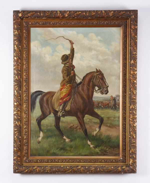 Continental O/c, signed, early 20th c., 48