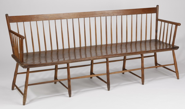 19th c. pine deacon's bench, 80