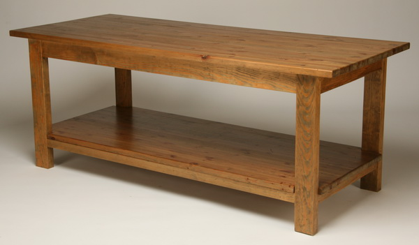 English pine table with distressed finish, 78