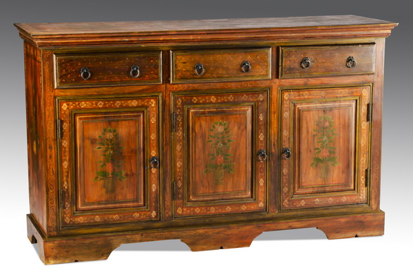 Contemporary paint-decorated buffet, 36