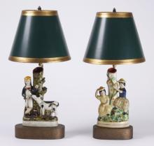 (2) Staffordshire style table lamps
