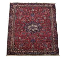 Hand knotted Persian Mashad wool rug, 10 x 16