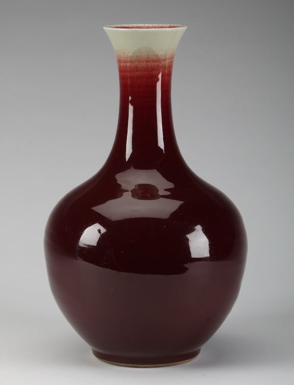 Large Chinese bottle neck vase, 16