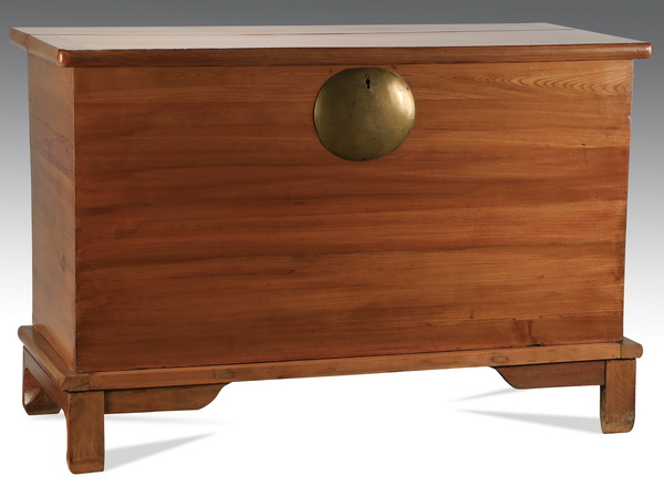 Contemporary Chinese hardwood trunk, 57