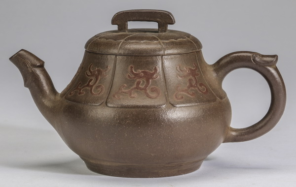 Chinese Yixing dragon teapot, 3.75
