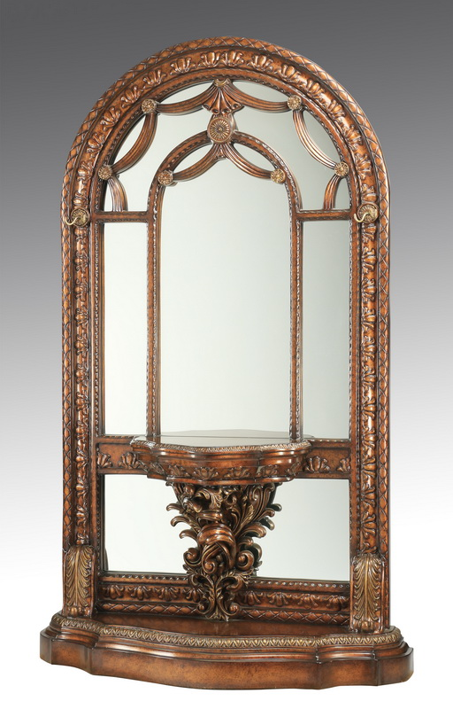 French inspired entryway mirror w/console