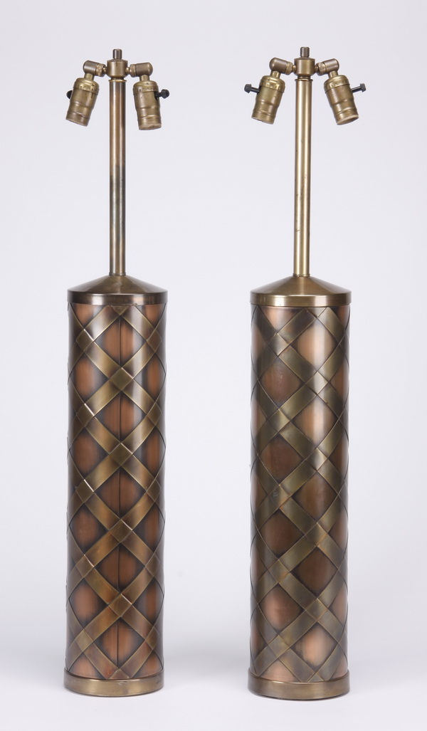 (2) Mid 20th c. Italian table lamps, 35