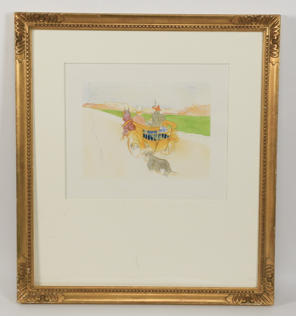 After Toulouse-Lautrec, framed lithograph
