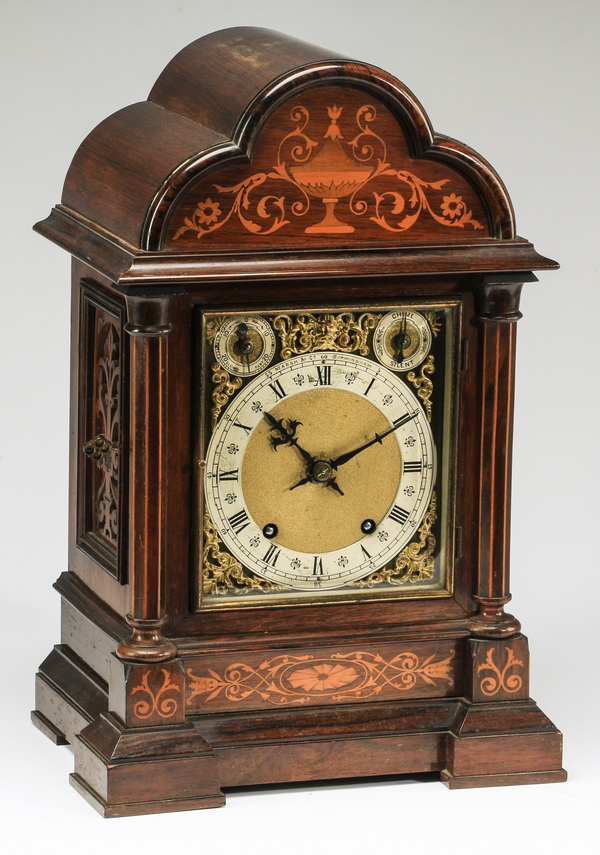 German Winterhalder & Hofmeier mantel clock, 19th c.