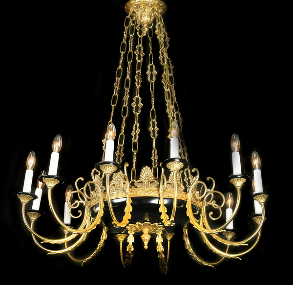 French Empire style 12-light chandelier, 40
