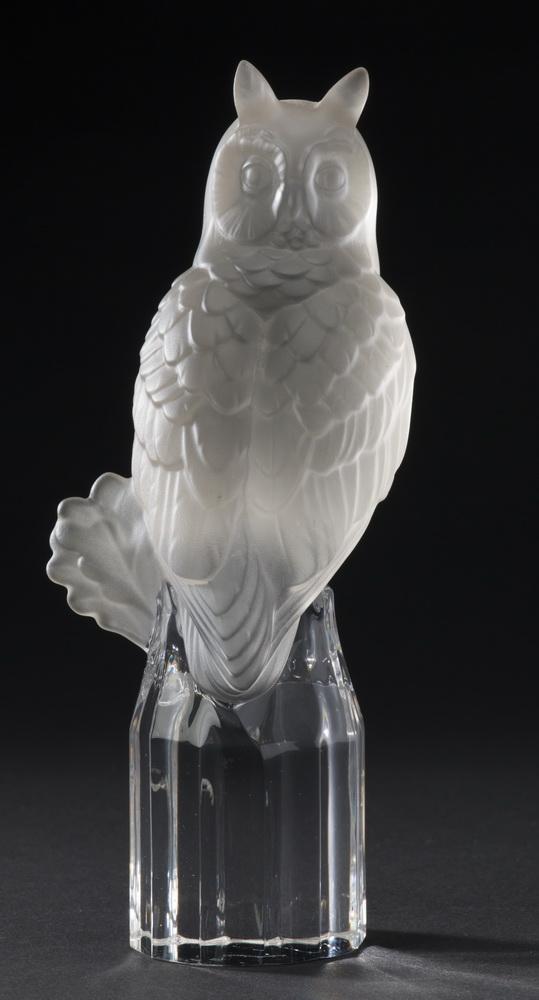Goebel crystal owl figurine, maker marked, 7