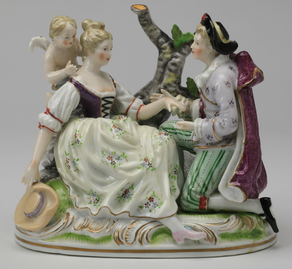 19th c. Volkstedt figurine, marked, 7