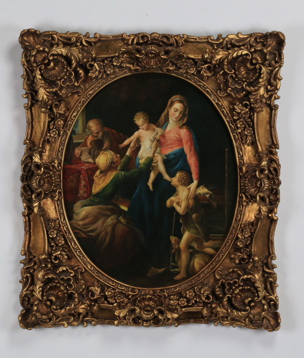 After Batoni, framed giclee of the Holy Family, 33
