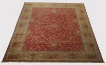 Hand knotted Indo-Oushak wool rug, 14' x 10'