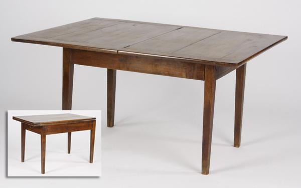 French walnut folding table, 19th c.