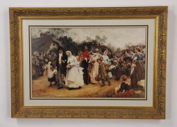 Framed lithograph, after Samuel Luke Fildes