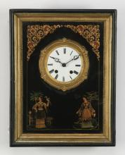 19th c. French picture frame clock, 19