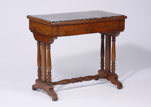 Early 20th c. French marble top side table