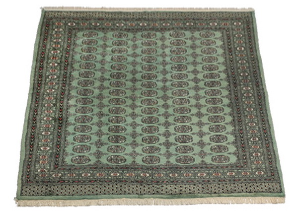 Hand-knotted Bokhara wool rug 9 x 6