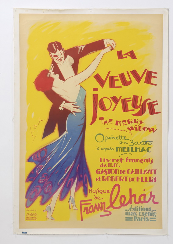 French canvas-backed poster, circa 1936, 50