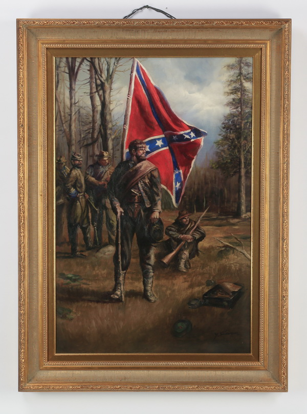 Y. Steven signed O/c Confederate soldiers, 44