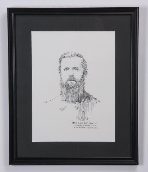 (8) Confederate military figure portraits