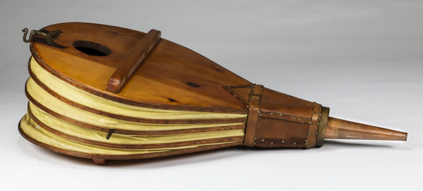 Monumental wood and leather bellows, 53