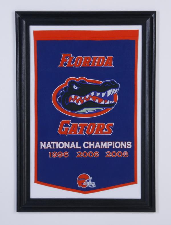 Framed Florida Gators Championship banner