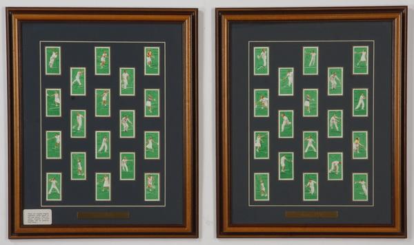 Framed collection, British cigarette cards