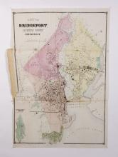 (3) 19th c. hand colored maps of Connecticut