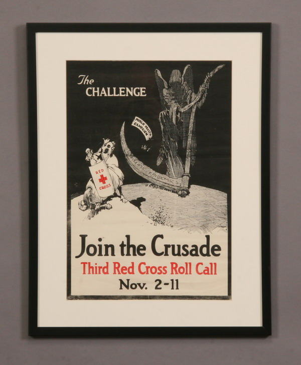 Vintage WW I Red Cross poster