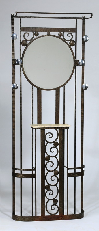 French wrought iron coat, umbrella stand, 76