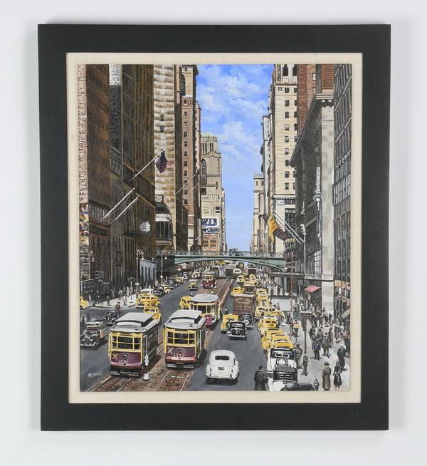 American School O/c NYC street scene, 29